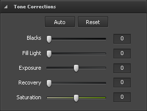 Tone Corrections section