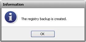 Registry Backup Completed