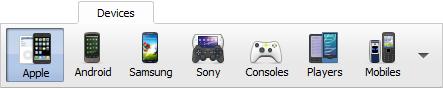 Main Toolbar - Devices Tab