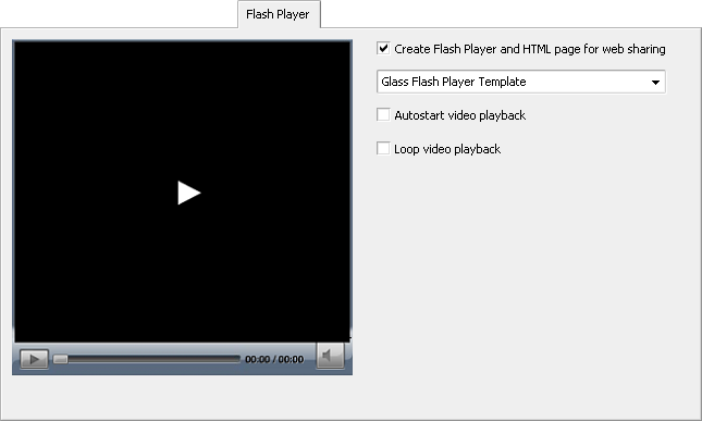 Flash Player tab