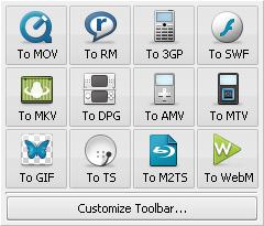 More Formats Toolbar
