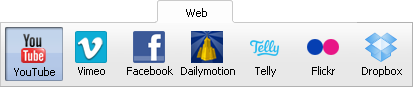 Main Toolbar - Web Tab
