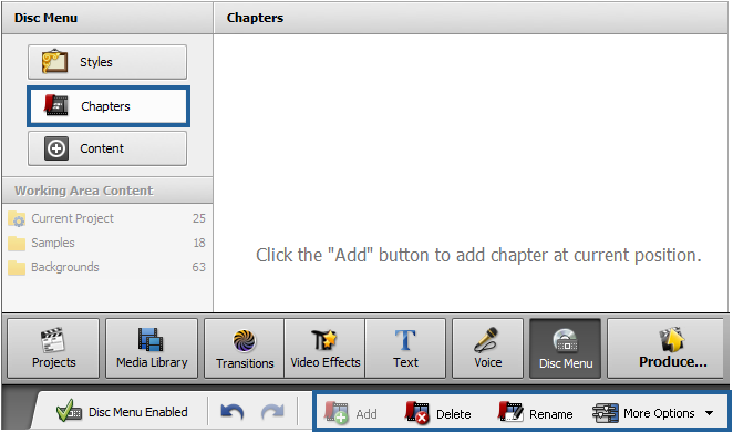 Adding Chapters