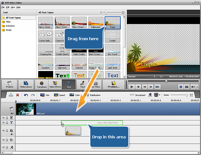 AVS4YOU >> AVS Video Editor >> Working with AVS Video Editor