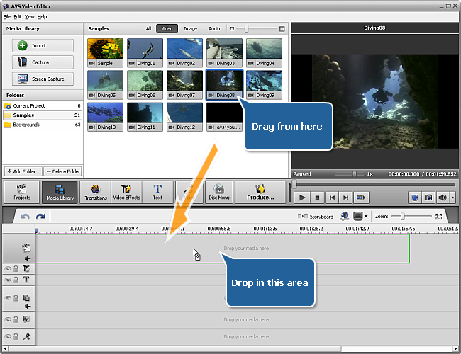 Adding Media Files to the Timeline