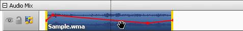 Changing Audio effect position in the video