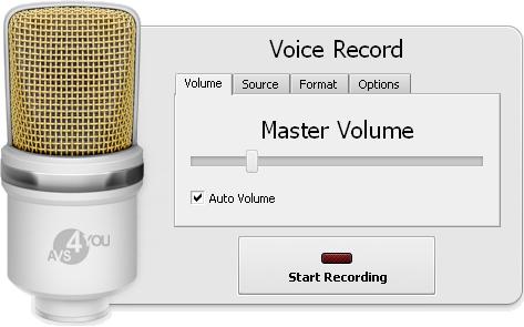 Recording Voice panel