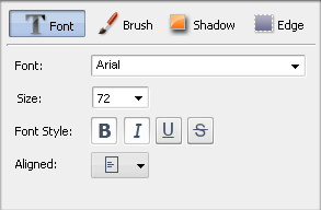 Text Properties window. Font