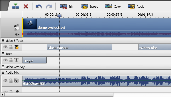 Timeline view with Line Groups