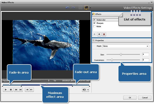 Video Effects window