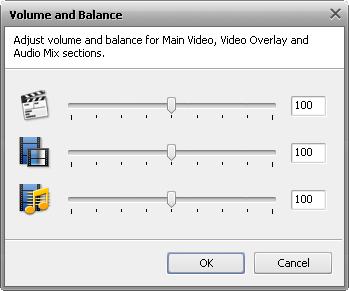 Volume and Balance window