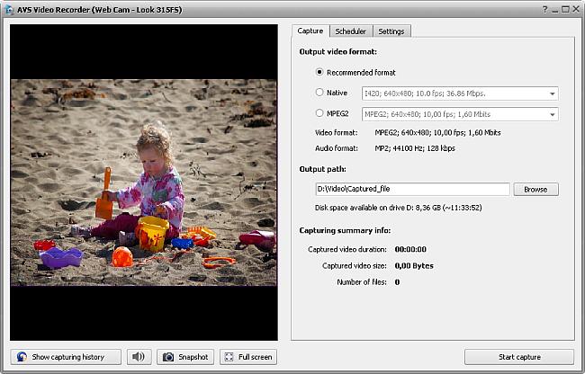 AVS Video Recorder main window