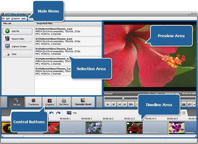 AVS Video ReMaker - Main Window