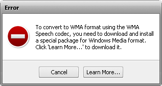 Converting to WM Speech Error
