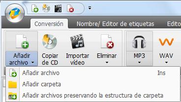 Adición de archivos y carpetas de la unidad de disco duro