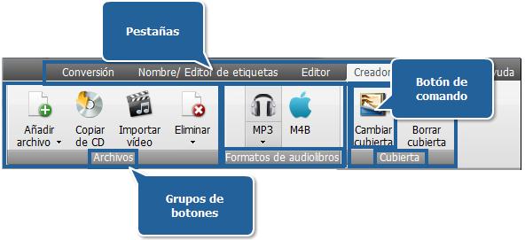 AVS Audio Converter - Pestaña Creador de audiolibros