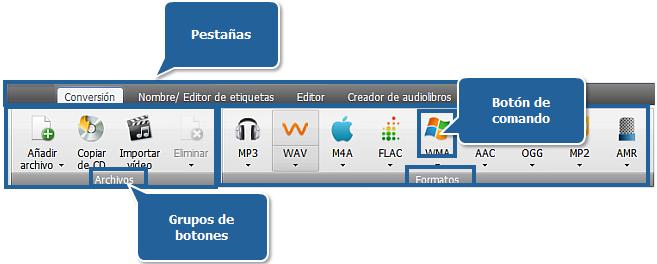 AVS Audio Converter - Pestaña de conversión