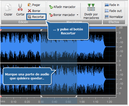 Edición de Audio - Recorte