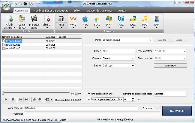 AVS Audio Converter - Cómo unir archivos de audio