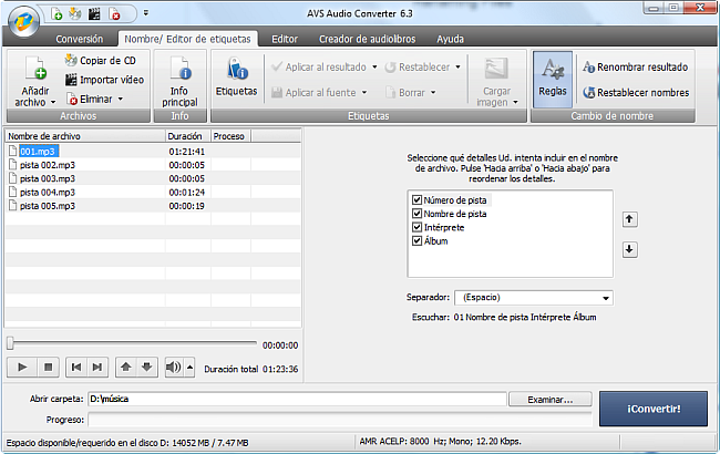 AVS Audio Converter - Renaming Files