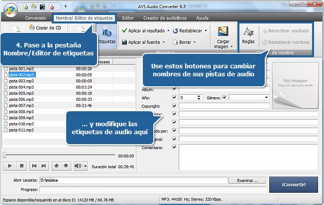 Funciones de AVS Audio Converter - Paso 4