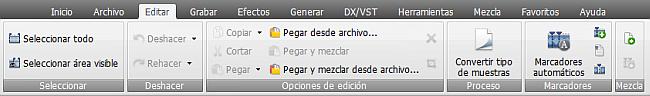 AVS Audio Editor - Pestaña Edición