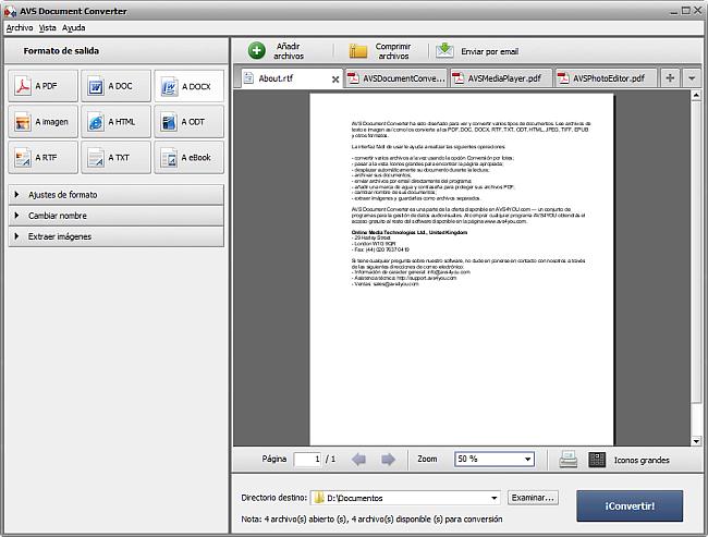 Conversión a formato DOCX