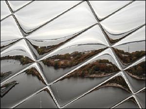 Después de aplicar el efecto Mosaico de vidrio
