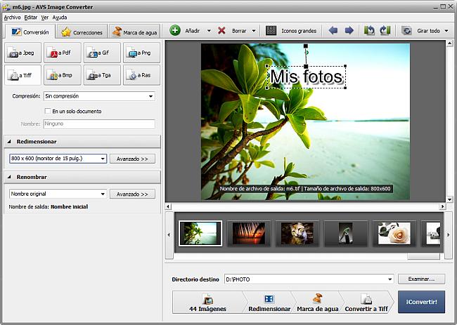 AVS4YOU >> AVS Image Converter >> Conversión al formato TIFF