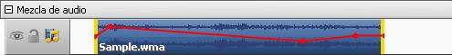 Envolvente de una pista de audio