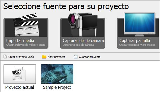 Página Inicio de proyecto