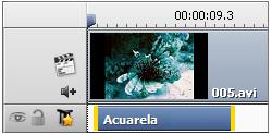 Línea para efectos vídeo