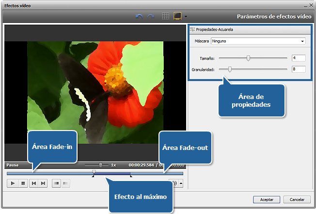 Ventana Efectos de vídeo