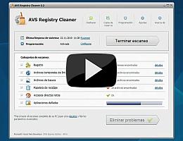 AVS Registry Cleaner. Vea la presentación de vídeo