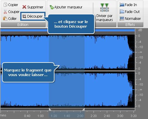 Traitement audio - Découpage audio