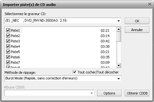 Copier audio d'un CD
