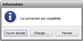 Fonctionnalités d'AVS Audio Converter - Fenêtre d'information