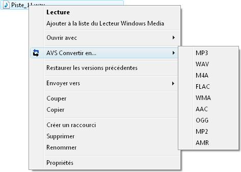 Fonctionnalités d'AVS Audio Converter - Conversion rapide