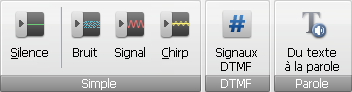 AVS Audio Editor - Onglet Générer
