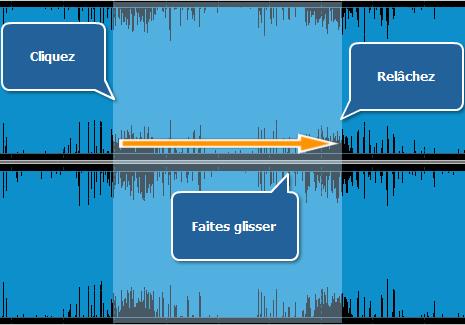 Sélectionner une partie de la piste audio