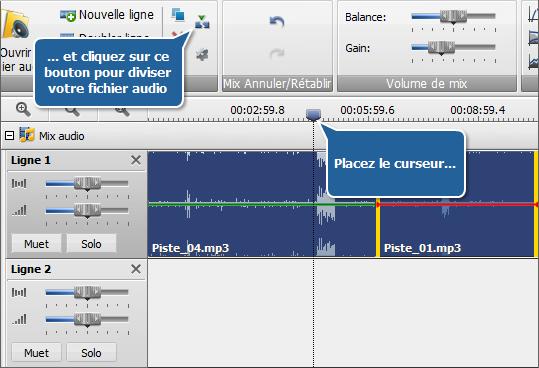 Diviser le fichier audio