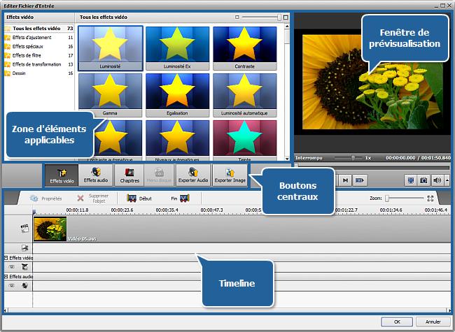 Fenêtre Editer Fichier d'Entrée