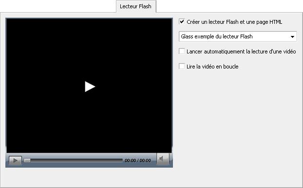 Onglet Lecteur Flash