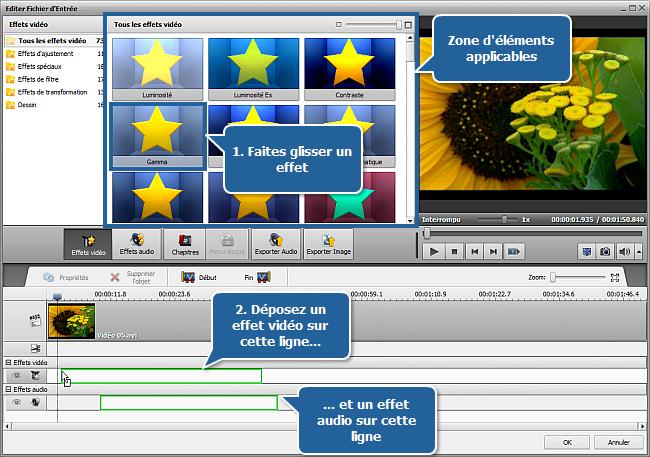 Appliquer des effets audio/vidéo
