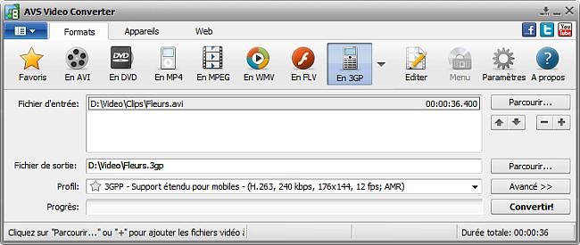 AVS4YOU >> AVS Video Converter >> Fonctionnalités d'AVS Video ...