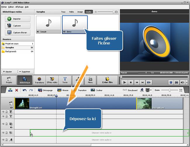 Adding Audio to Timeline