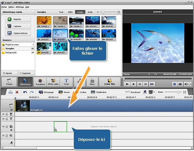 Ajouter la superposition vidéo à la Timeline