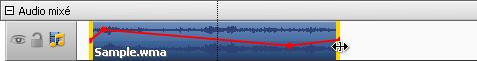 Changer la durée d'audio sur la Timeline