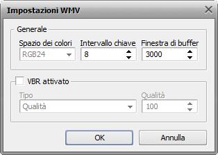 Finestra WMV avanzato
