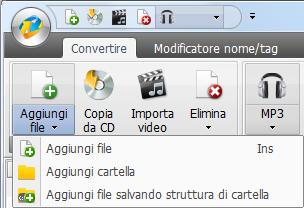 AVS Audio Converter - Aggiungere i file e le cartelle dal disco rigido